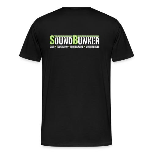 Nur Hinten für dunkle Farben - Männer Premium T-Shirt