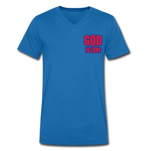 Love - Mannen bio T-shirt met V-hals van Stanley & Stella