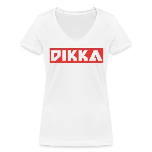 DIKKA Damen Shirt - Frauen Bio-T-Shirt mit V-Ausschnitt von Stanley & Stella