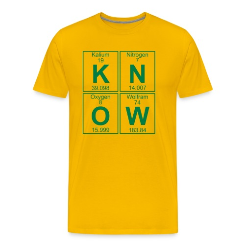K-N-O-W (know) - Men's Premium T-Shirt