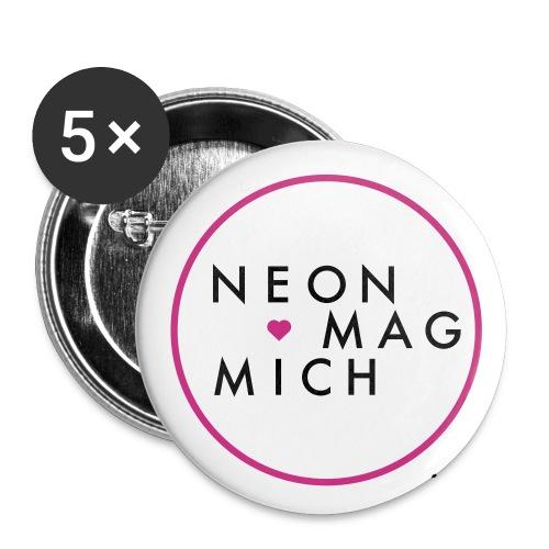 NEON MAG MICH  - Buttons klein 25 mm