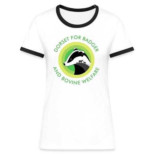 Dorset for Bagder and Bovine Welfare (Logo) - Women's Ringer T-Shirt