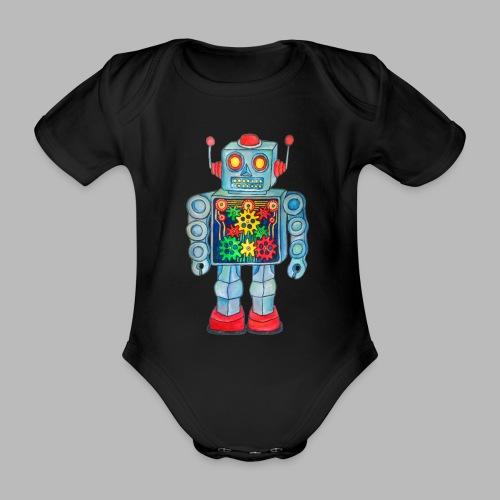 ROBOT  ----------- (3mths-18mths) - Organic Short-sleeved Baby Bodysuit