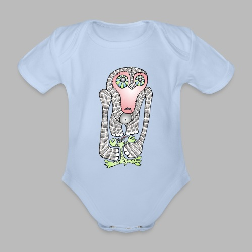 SQUISHED! ----------- (3mths-18mths) - Organic Short-sleeved Baby Bodysuit