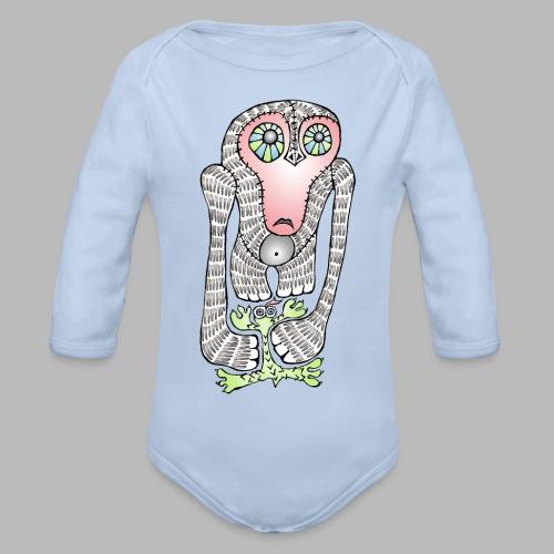 SQUISHED! ----------- (3mths-24mths) - Organic Longsleeve Baby Bodysuit