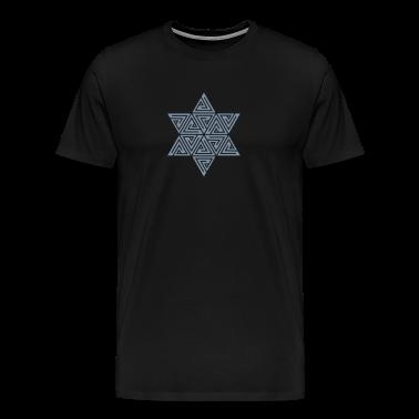 Merkaba, Mer-Ka-Ba, Merkabah, vector graphics, divine light vehicle, sacred geometry, star tetrahedron, Flower of life T-Shirts