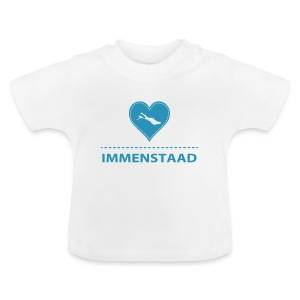 BABY Immenstaad flock blau - Baby T-Shirt