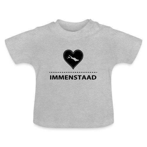 BABY Immenstaad flock schwarz - Baby T-Shirt