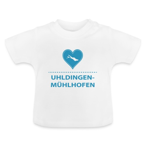 BABY Uhldingen-Mühlh. flock blau - Baby T-Shirt