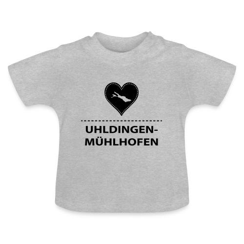 BABY Uhldingen-Mühlh. flock schwarz - Baby T-Shirt