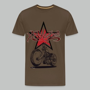 XS Kustom Japan Star - Khaki green - Men's Premium T-Shirt
