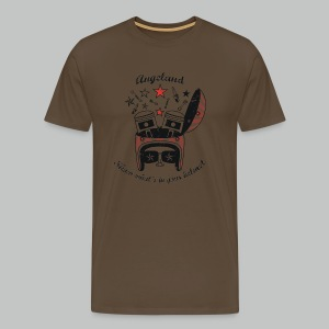 Version2 - Show what's in your helmet - Black design - Khaki Green - NEW Version - Men's Premium T-Shirt