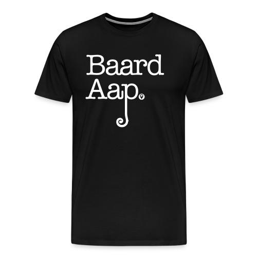 Baard Aap - Men's Shirt (white print) - Mannen Premium T-shirt