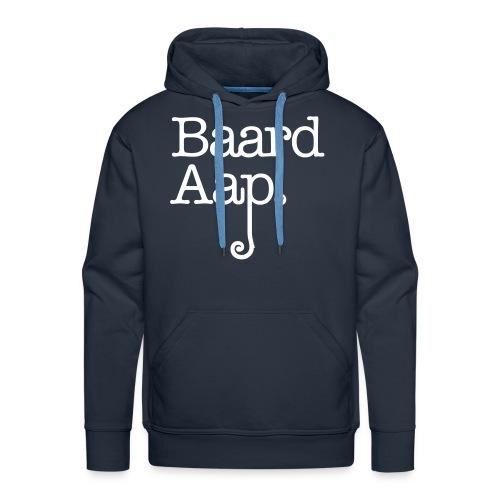 Baard Aap - Men's Hoodie (White print) - Mannen Premium hoodie