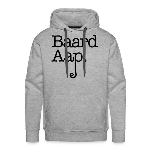 Baard Aap - Men's Hoodie (black print) - Mannen Premium hoodie