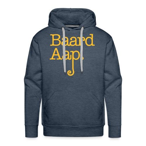 Baard Aap - Men's Hoodie (Yellow print) - Mannen Premium hoodie