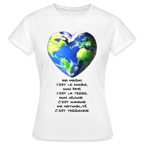 T-SHIRT MONDE FEMME - T-shirt Femme