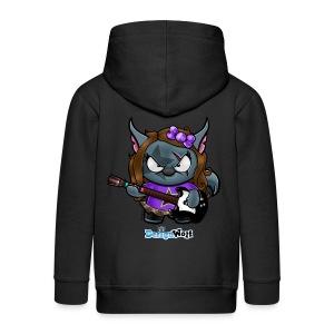 Little Rockstar Wolf - Kids' Premium Zip Hoodie