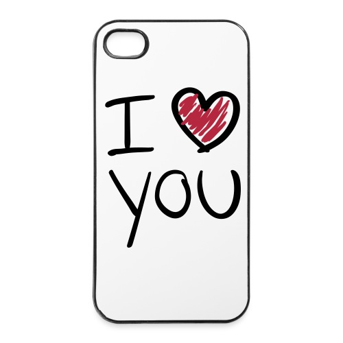 IPHONE 4 I LOVE YOU COVER - iPhone 4/4s Hard Case