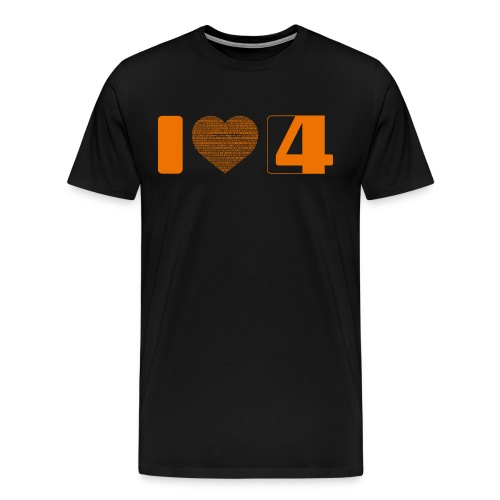 I love S4G T-Shirt Boy - Männer Premium T-Shirt