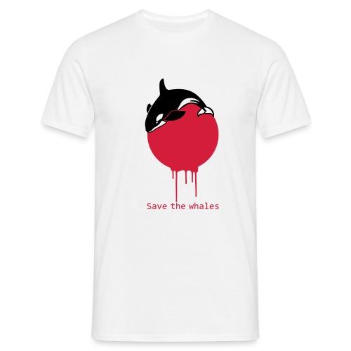 Save the whales - Männer T-Shirt
