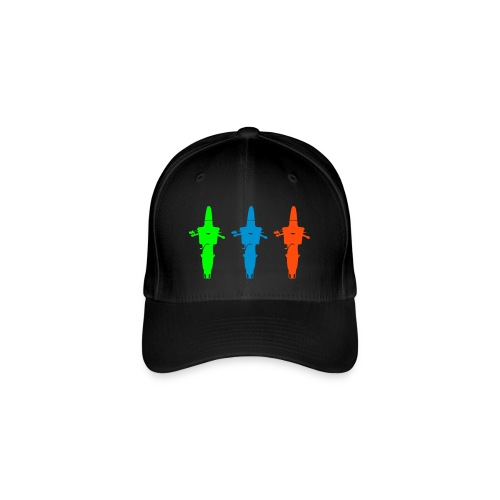 Flexfit-Cap mit drei Schwalben - Flexfit Baseballkappe