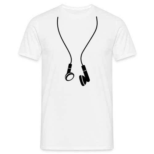 KOPFHÖRER SHIRT - Männer T-Shirt