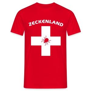 Zeckenland Schweiz - Männer T-Shirt