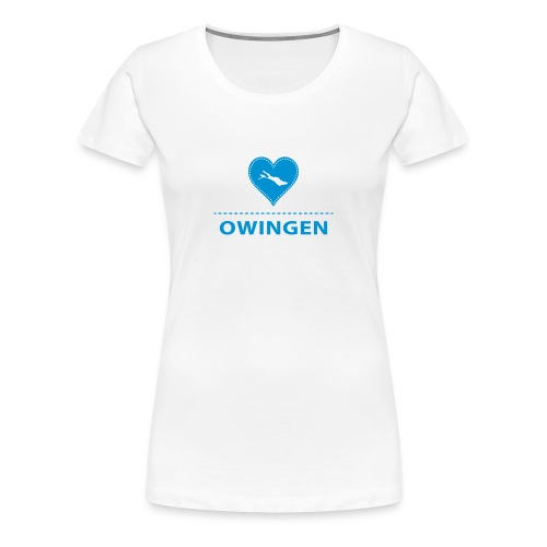 WOMEN Owingen flex blau - Frauen Premium T-Shirt