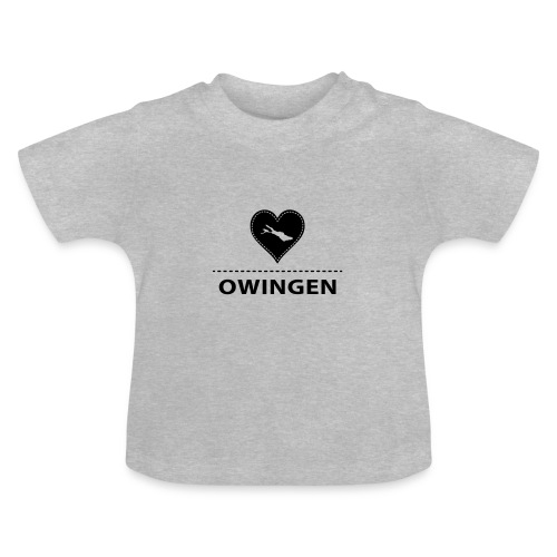 BABY Owingen flock schwarz - Baby T-Shirt