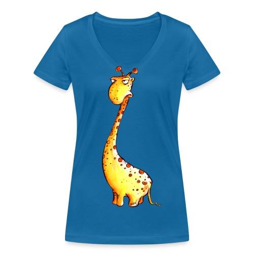 Übellaunige GIraffe - Frauen Bio-T-Shirt mit V-Ausschnitt von Stanley & Stella