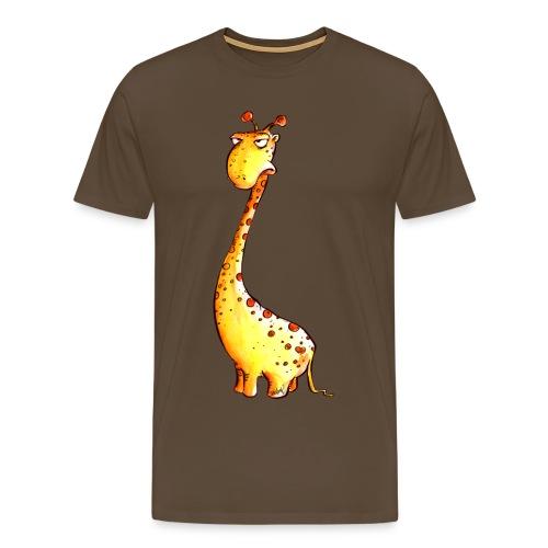 Übellaunige GIraffe - Männer Premium T-Shirt