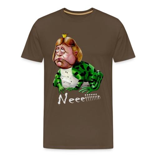 Merkelfrosch Neiiin heller Schriftzug - Männer Premium T-Shirt
