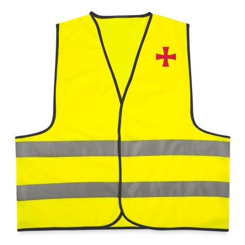 Utilissima giacchetta catarifrangente con croce patente - Gilet catarifrangente