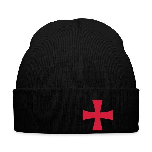 Zucchetto nero croce rossa - Cappellino invernale