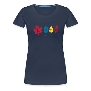 fall_leaves_color T-shirts - Vrouwen Premium T-shirt