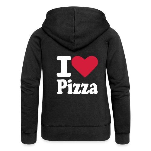 Vrouwenvest I love Pizza - Vrouwenjack met capuchon Premium