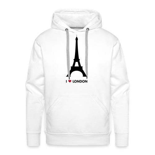 I love London mannen premium hoodie - Mannen Premium hoodie