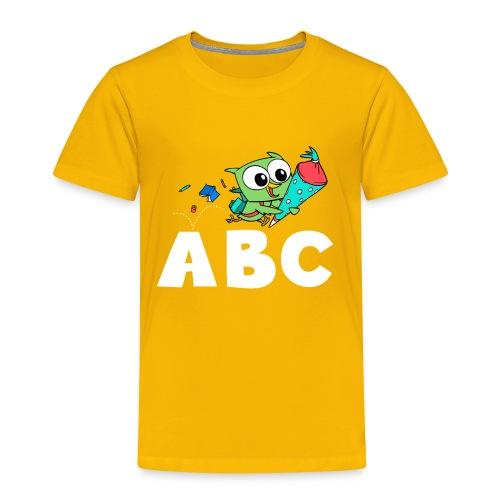 Schulanfang für Eule ABC - Kinder Premium T-Shirt