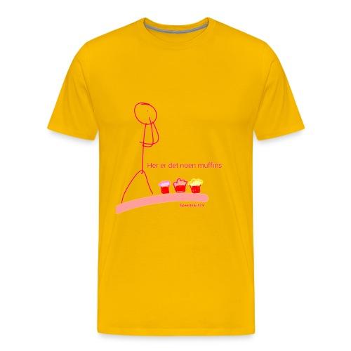 Her er det noen muffins - Premium T-skjorte for menn