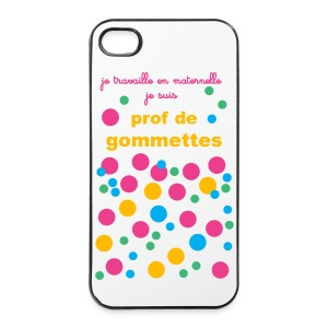 coque i phone 4/4s gommettes - Coque rigide iPhone 4/4s