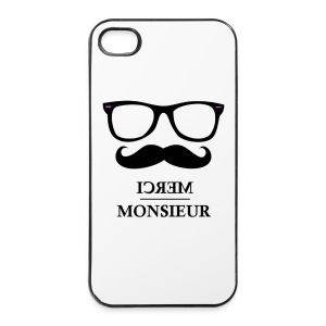 Monsieur est geek #iPhone - Coque rigide iPhone 4/4s