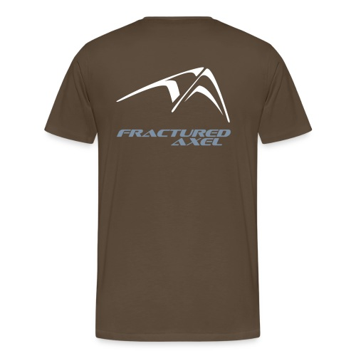 Men's Premium T-Shirt - With the new logo on the back, and the Fractured Axel name, but no number '10'. White logo on the chest.