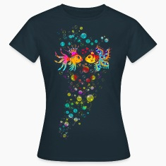 Bubble Love, Fish, water, heart, holiday, sea,  T-Shirts