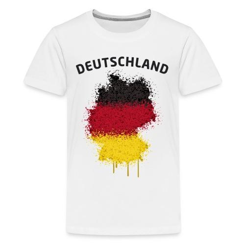 Teenager Fußball Fan T-Shirt Deutschland Graffiti - Teenager Premium T-Shirt