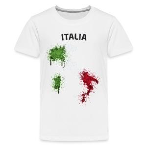 Teenager Fußball Fan T-Shirt Italia Graffiti - Teenager Premium T-Shirt