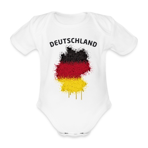 Baby Kurzarm Body Fußball Fan Deutschland Graffiti - Baby Bio-Kurzarm-Body