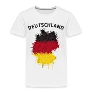 Kinder Fußball Fan T-Shirt Deutschland Graffiti - Kinder Premium T-Shirt