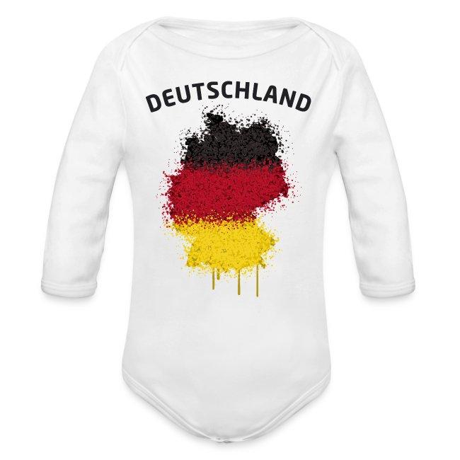 Baby Langarm Body Fußball Fan Deutschland Graffiti