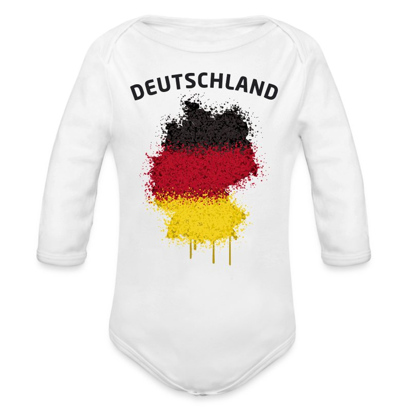 Baby Langarm Body Fußball Fan Deutschland Graffiti - Baby Bio-Langarm-Body